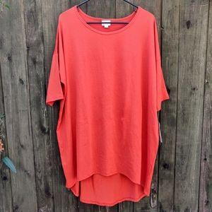 Lularoe Irma Orange Tunic Top NWT